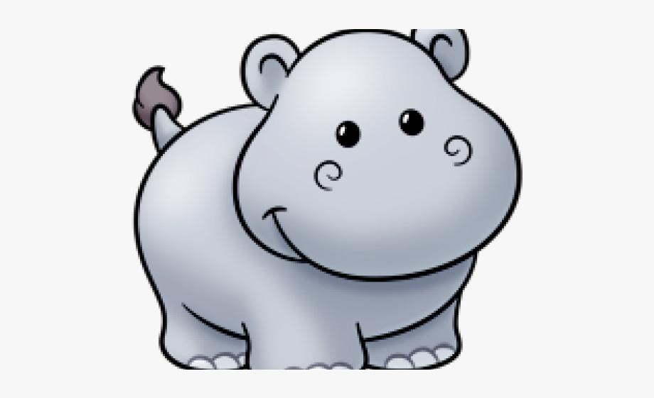 Footprints kawaii free . Clipart hippo simple