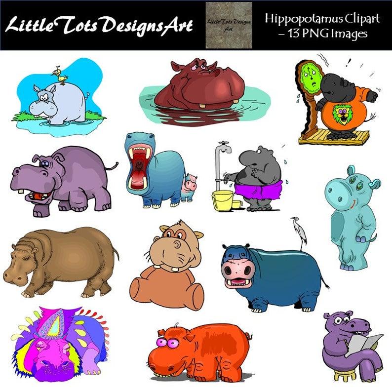 Clipart hippo small. Clip art hippopotamus cute