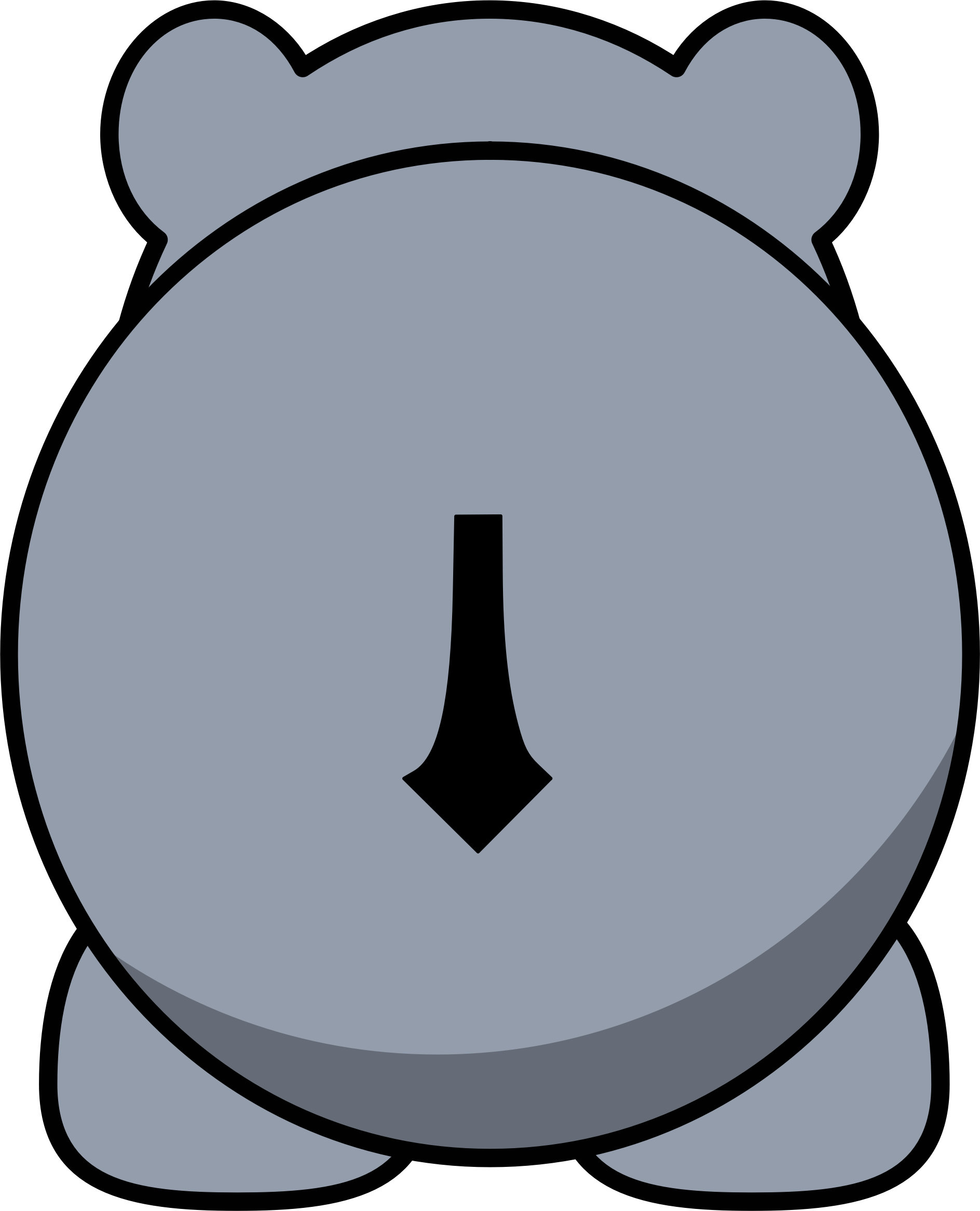 Back big image png. Hippo clipart hipp