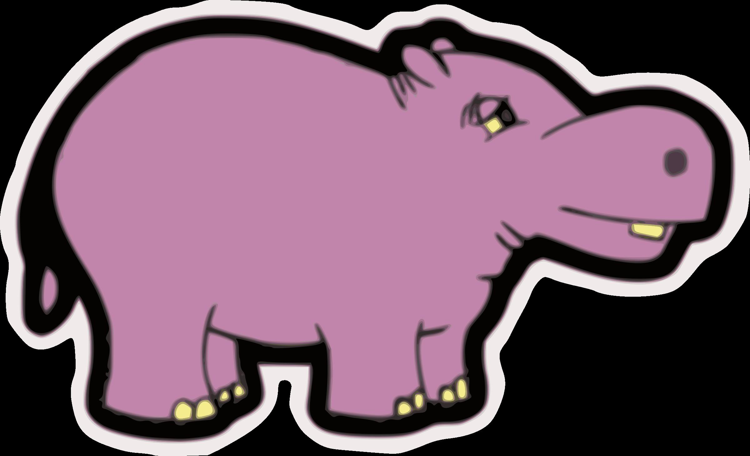 Hippopotamus clipart purple. Hippo big image png