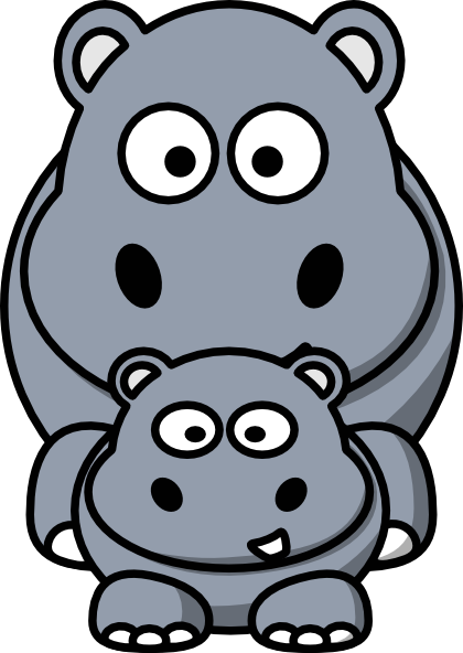 Clipart hippo small. Mom clip art at