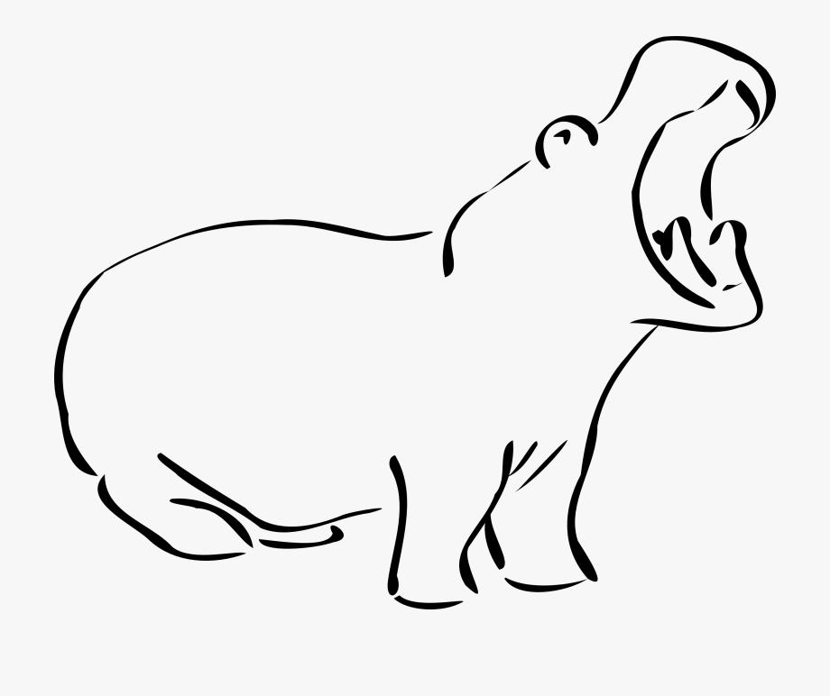 Library clip art . Clipart hippo small