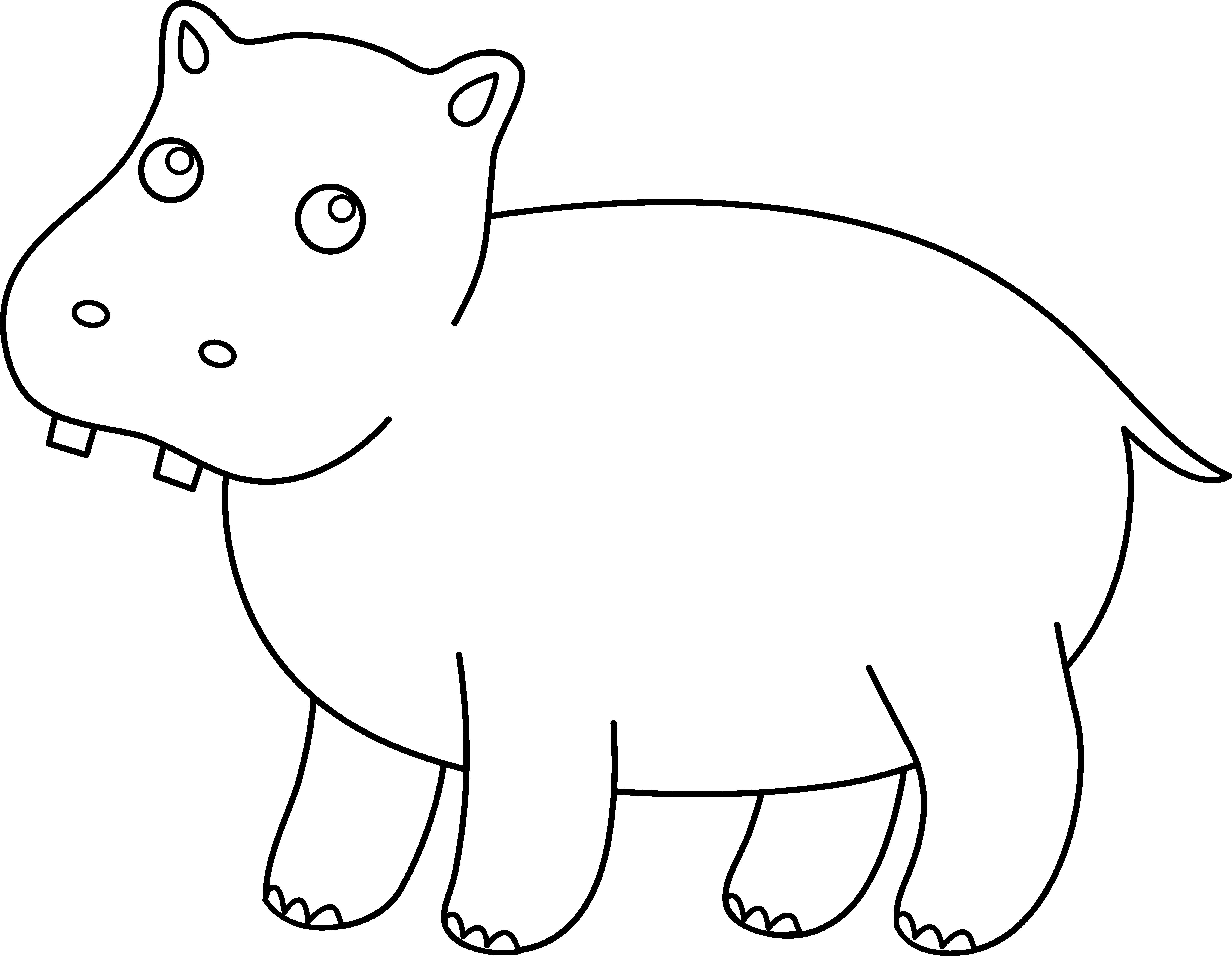 Clipart hippo svg. Scal pinterest