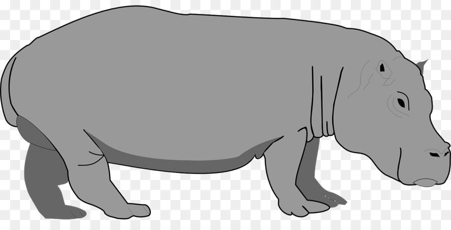 Bear wildlife pig transparent. Clipart hippo tail cartoon