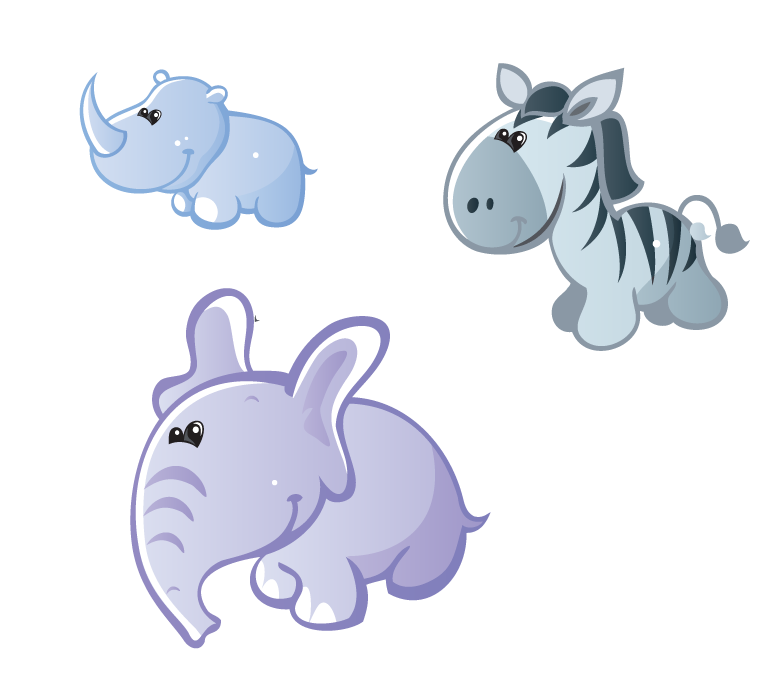 Clipart hippo tail cartoon. Cute animals how to