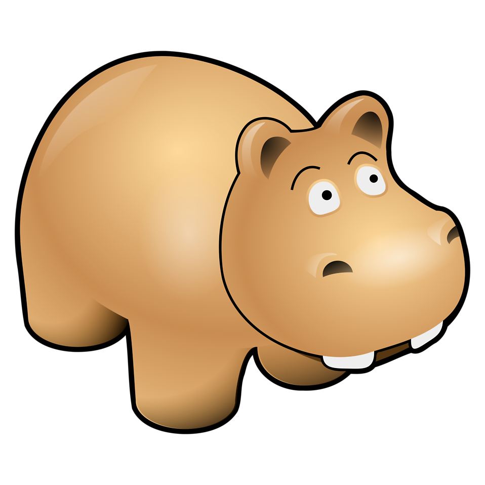 Free stock photo illustration. Clipart hippo transparent background