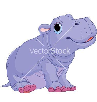 Cartoon h is for. Clipart hippo vector