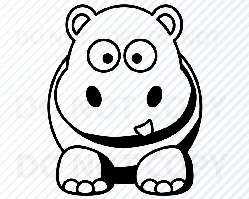 Clipart hippo vector. Svg files images hippopotamus
