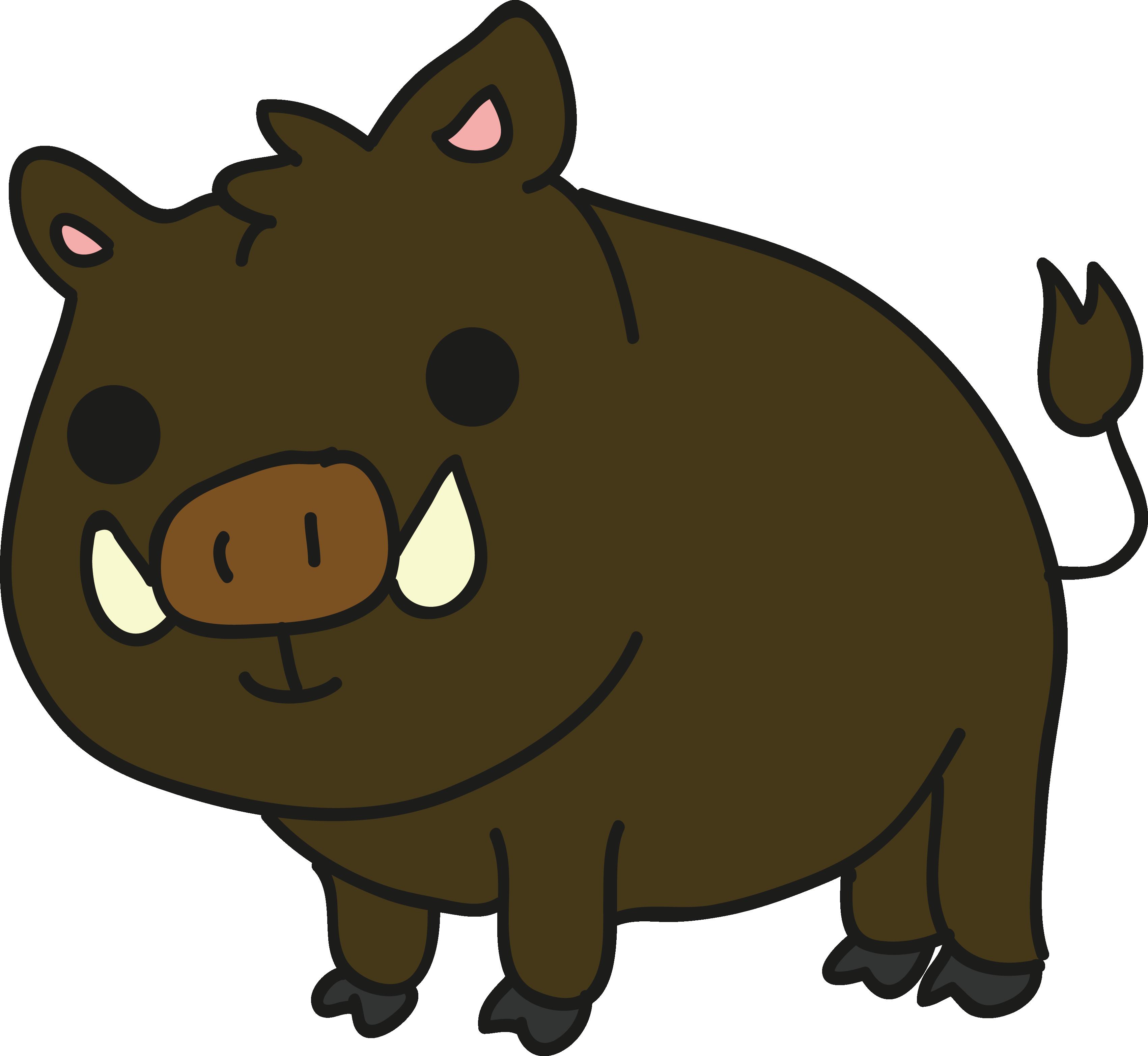 Boar cartoon clip art. Clipart hippo wild animal