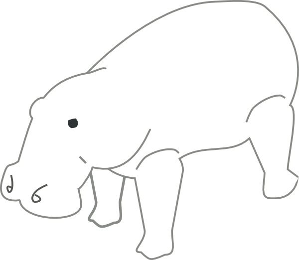hippo clipart wild animal