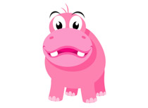 Clipart hippo wild animal. Free clip art pictures