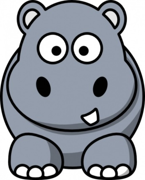 Hippopotamus panda free images. Clipart hippo