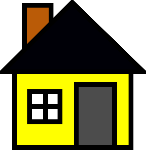 Yellow clip art at. Home clipart small house