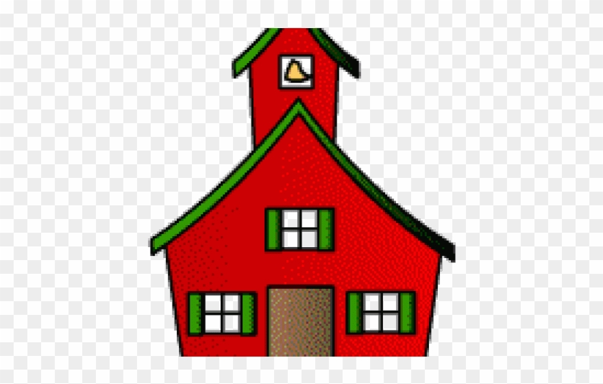 House animated school clip. Schoolhouse clipart parent night