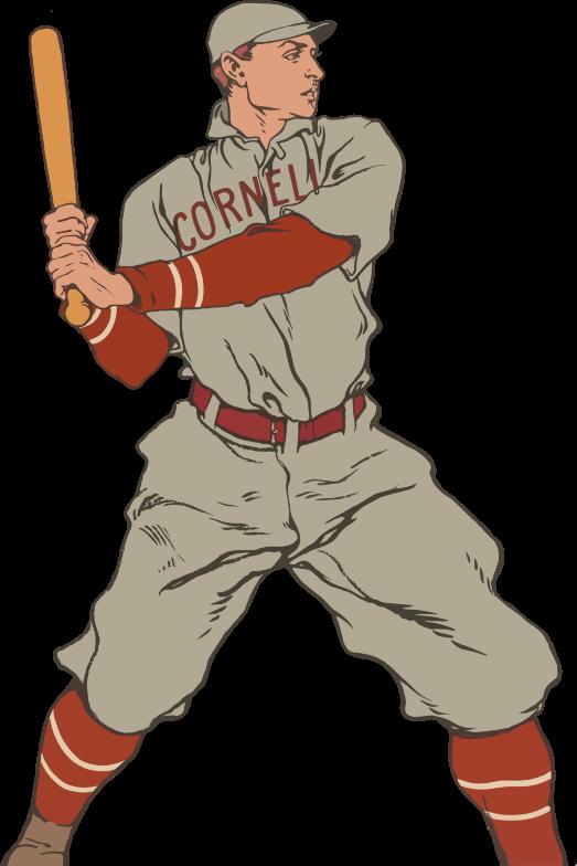 Microsoft clipart baseball player. Free vintage clip art
