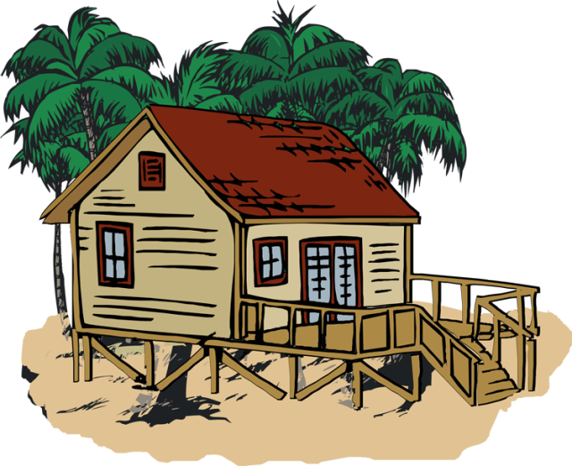 Clipart summer house. Beach pencil and in