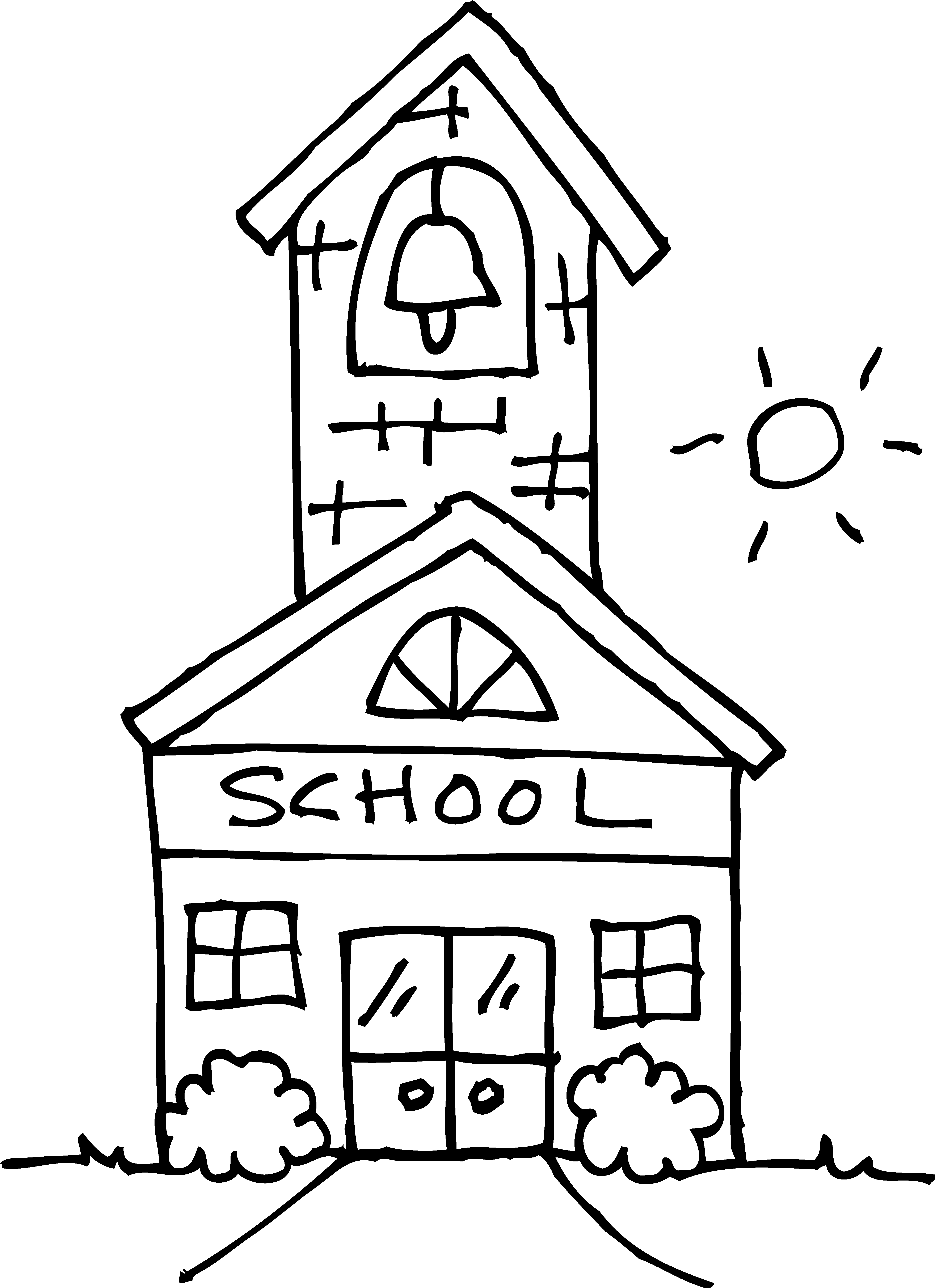 Outline clipart school.  collection of at