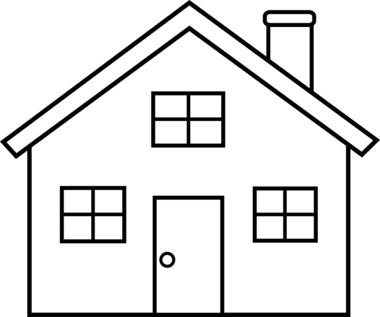 Free clip art download. House clipart black and white