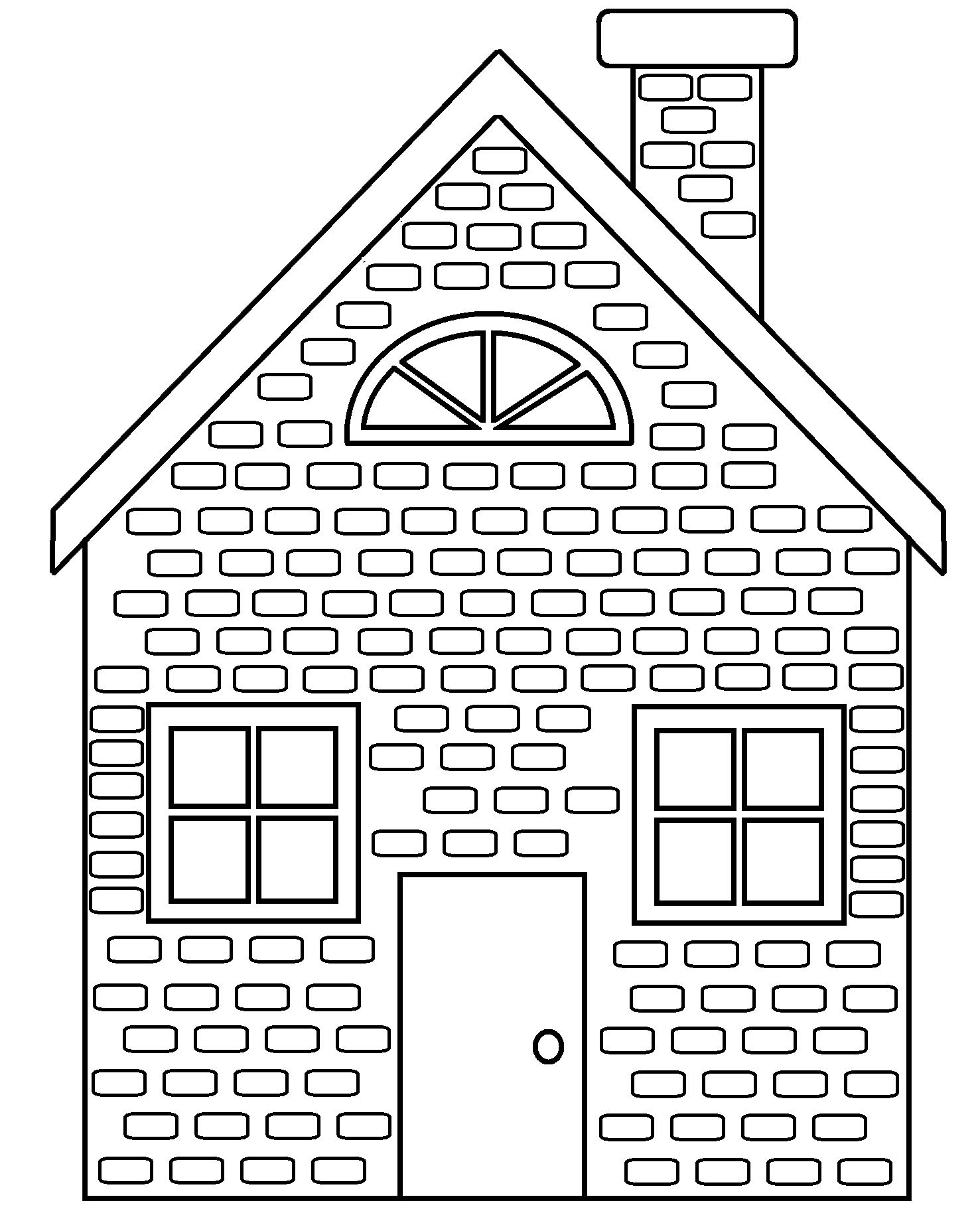 collection of black. Home clipart brick house