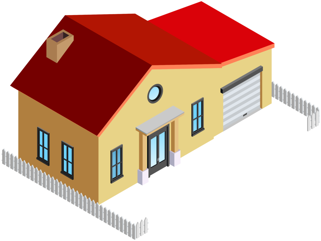 House with fence png. Clipart home bunglow