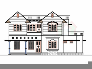Clipart home bunglow. Bungalow house free images