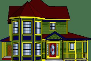Bungalow house portal . Clipart home bunglow