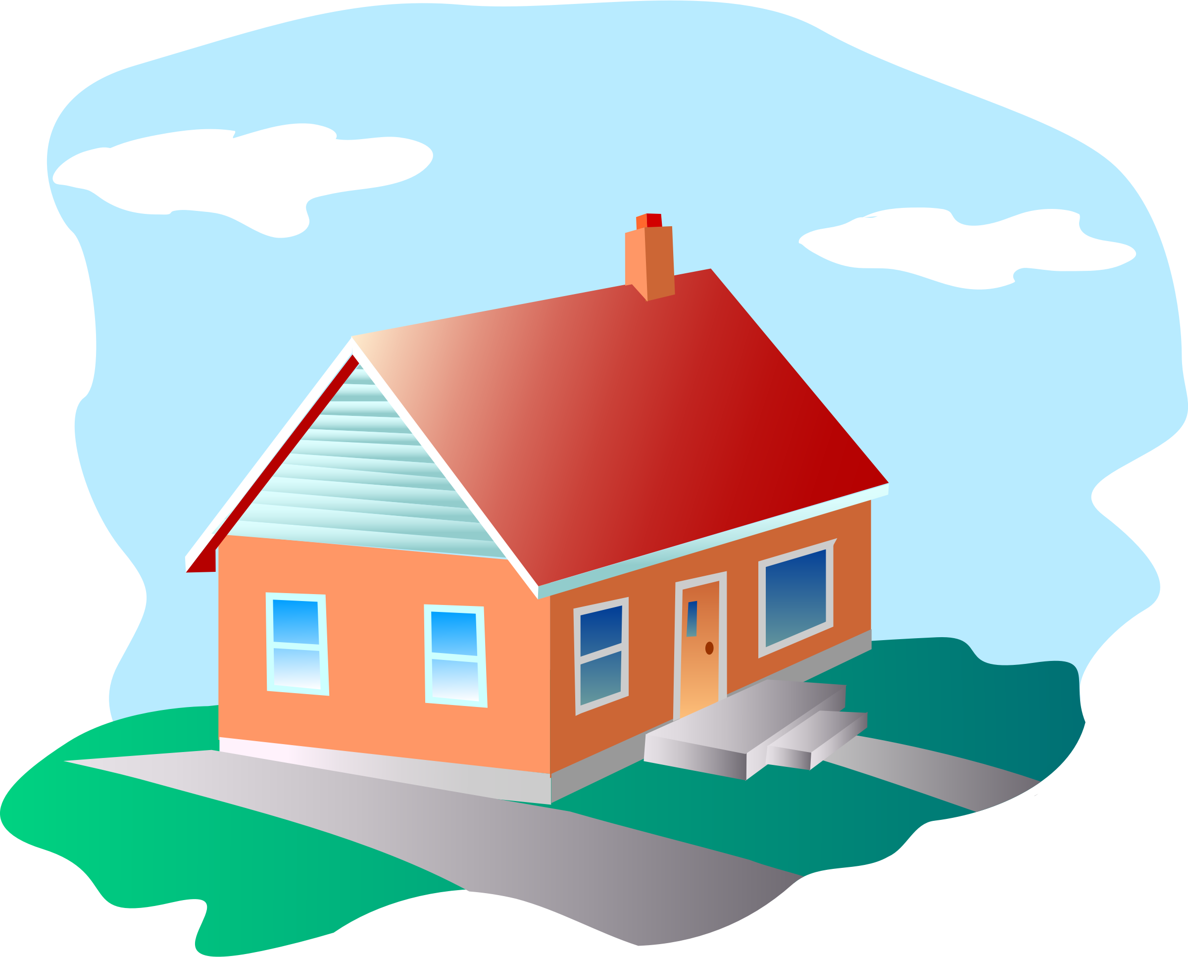 Hand clipart house.  collection of and