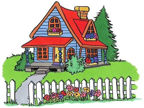 Cottage clipart hause. Clip art of houses