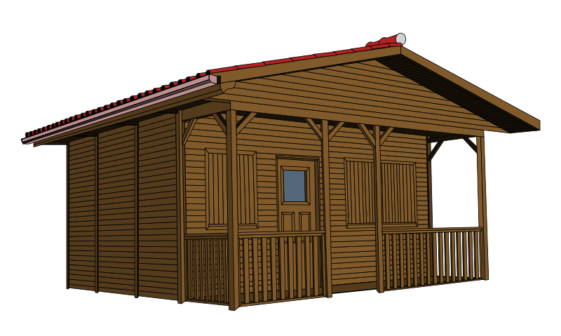 Cottage bamboo hut