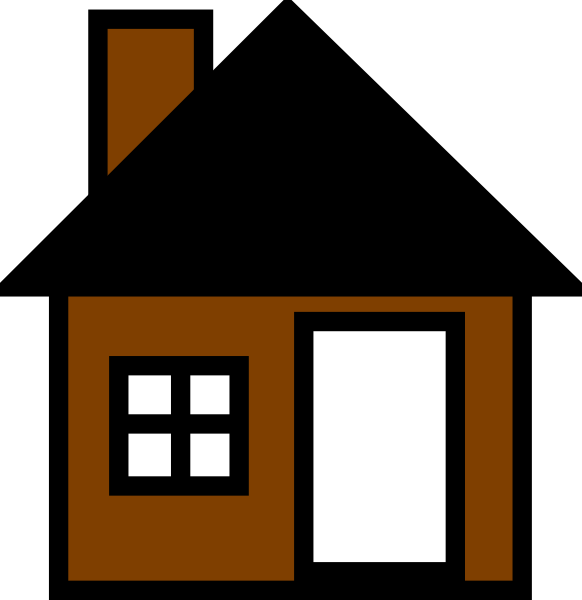 clipart house brown