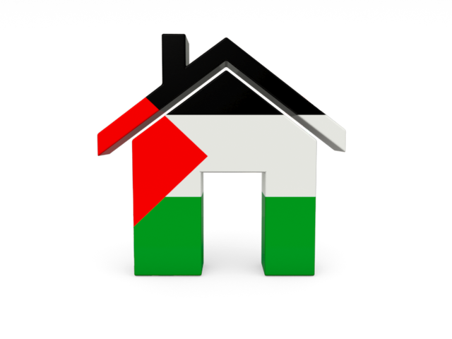 Icon illustration of flag. Home clipart country home