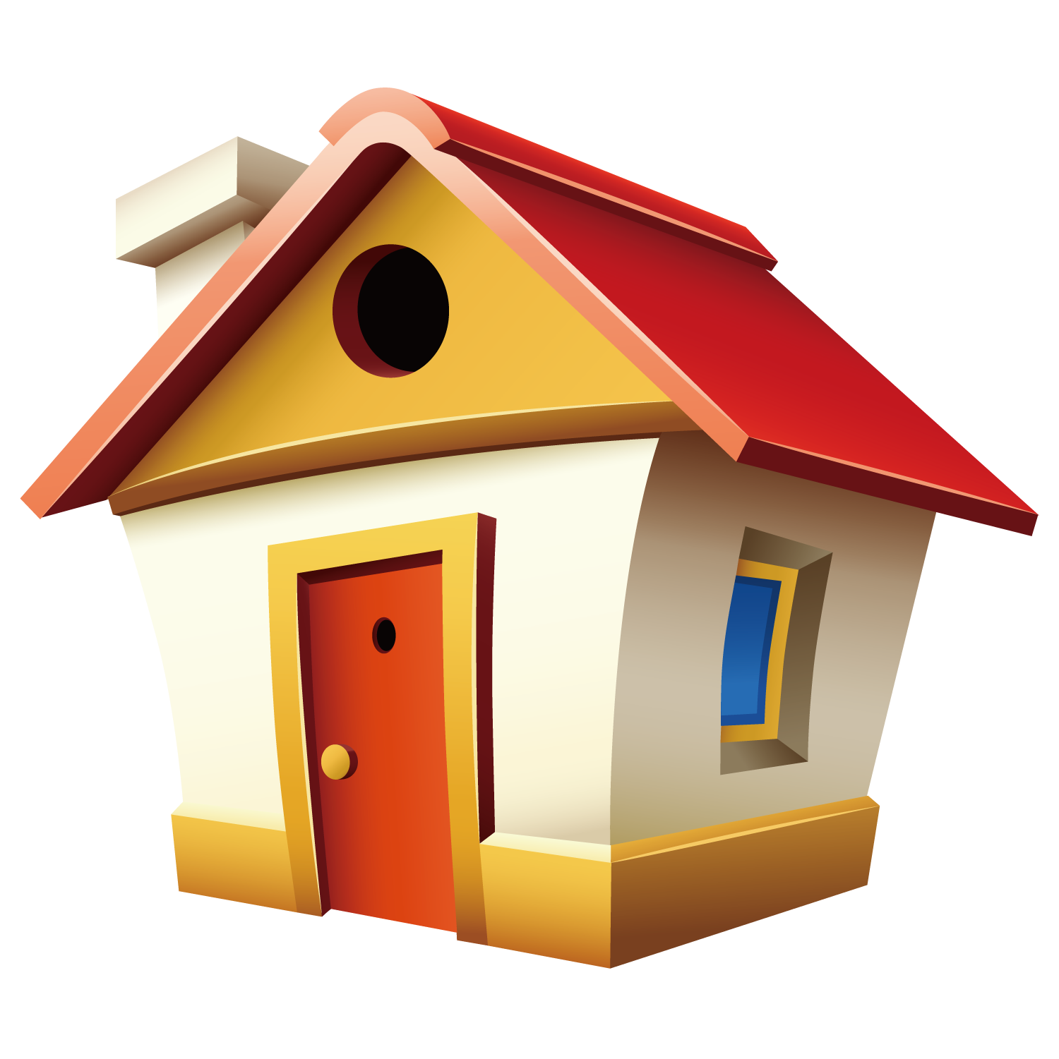 English house una casa. Home clipart country home