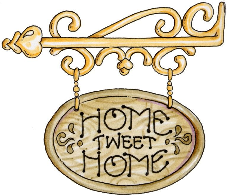 Home clipart country home. Sweet clip art