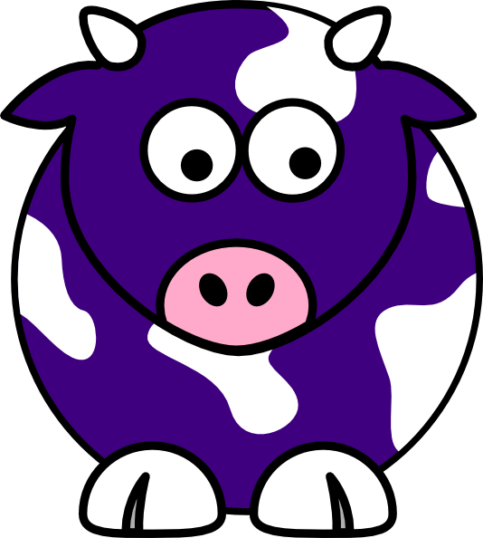 Ox clipart blue. Cow clip art at