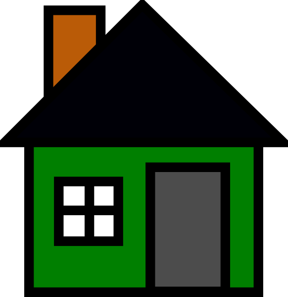 clipart house green