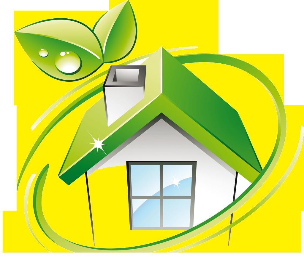 Greenhouse logo environmentally friendly. Houses clipart green