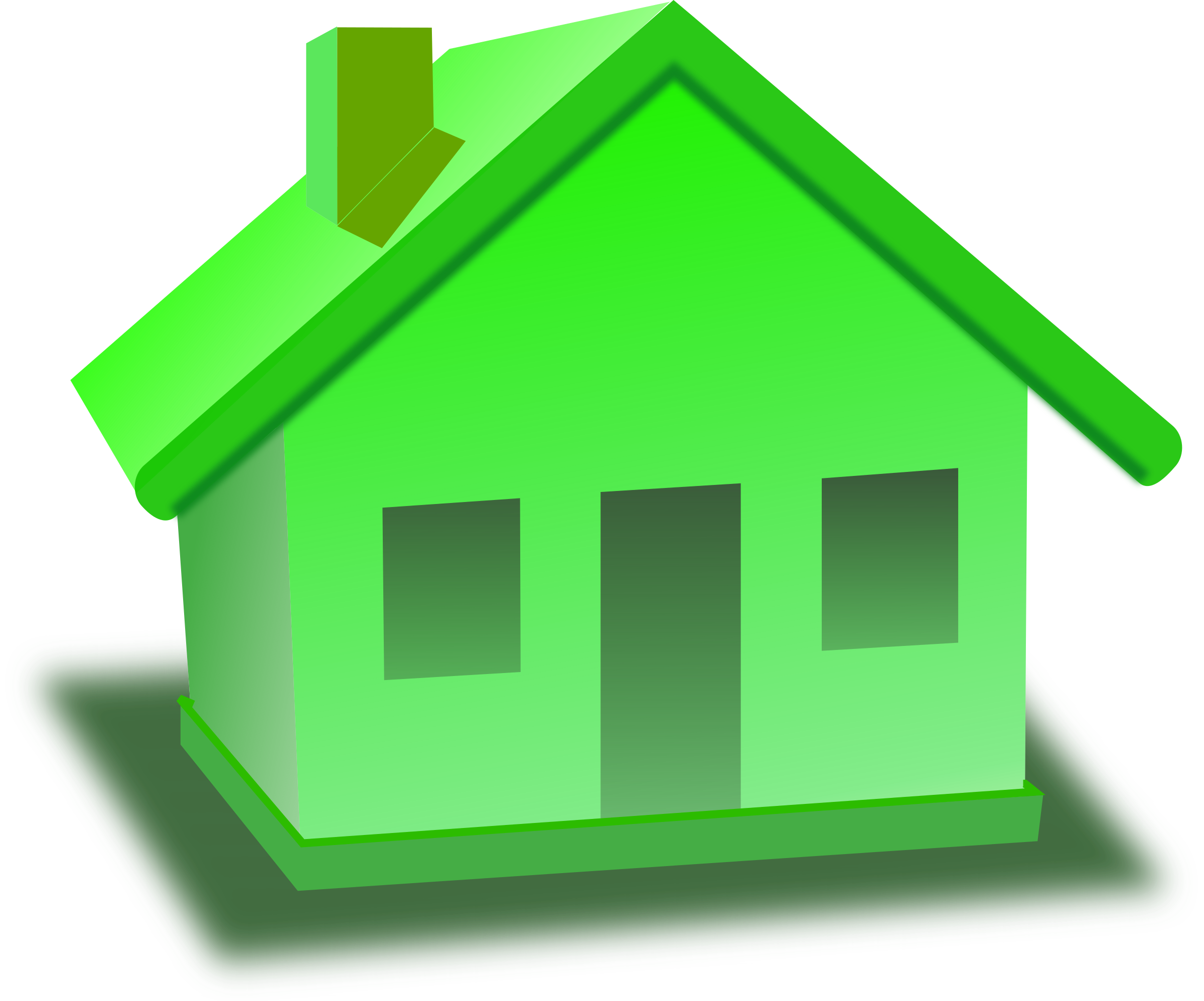 Monopoly house png. Clipart green big image