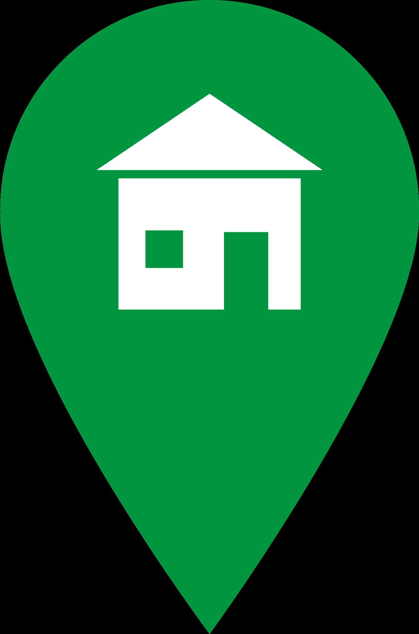 Location clipart green. Home icon big image