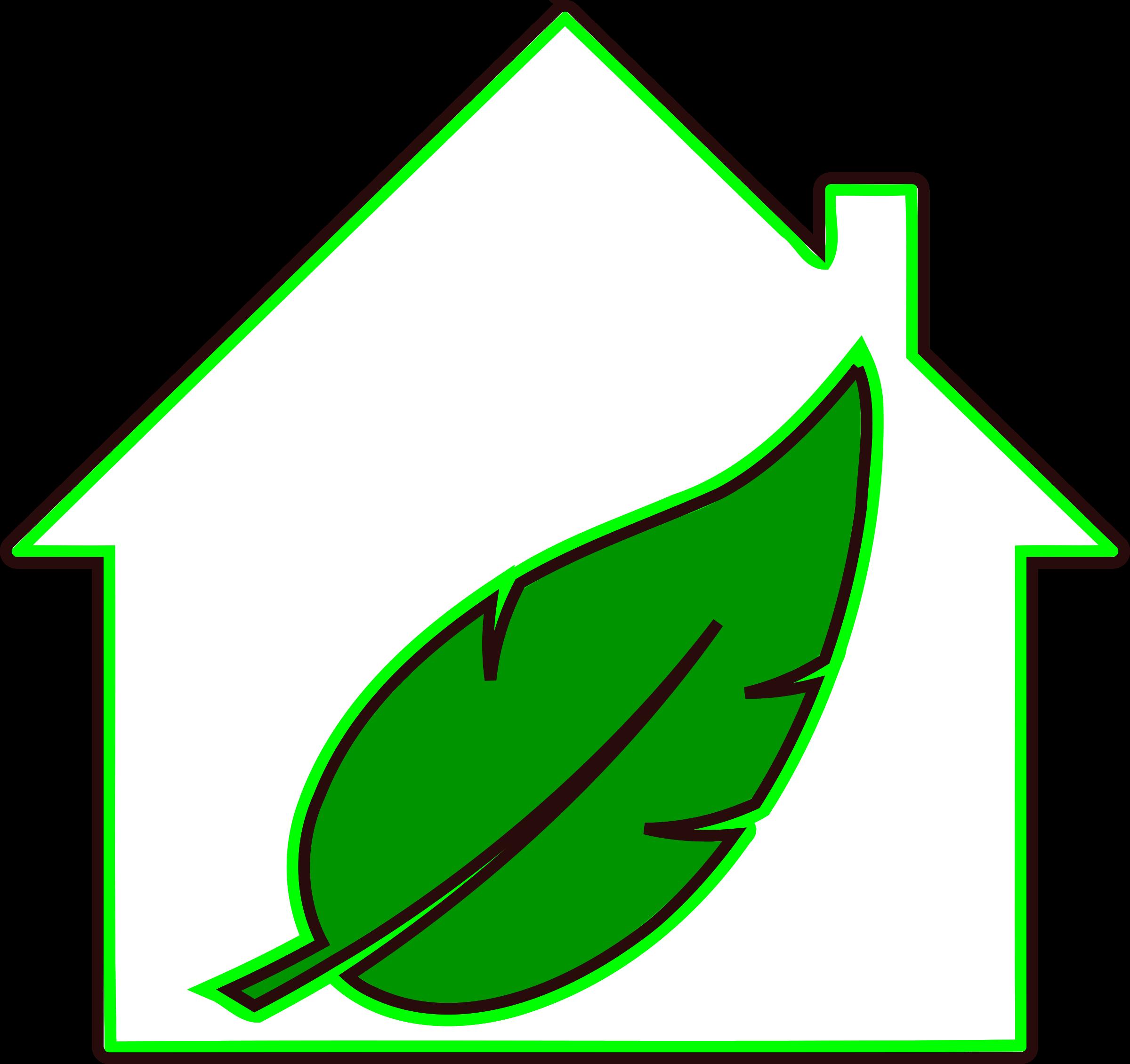 Clipart leaf house. Green home big image