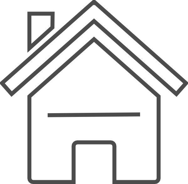 Grey house clip art. Line clipart modern