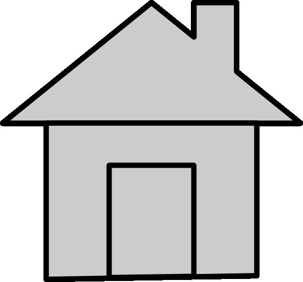 House clipart grey. Gray icon clip art