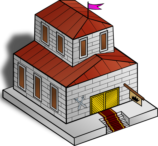 Home clipart hall. Townhall clip art at