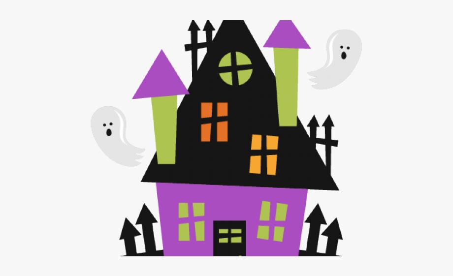 Haunted house school . Home clipart halloween