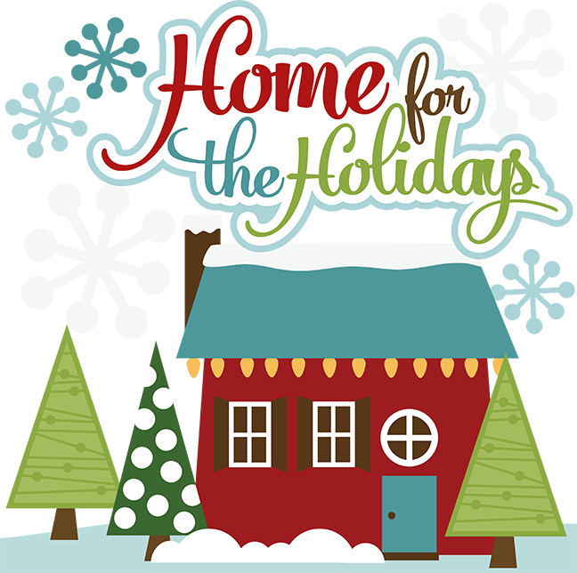 Home clipart christmas. For the holidays svg