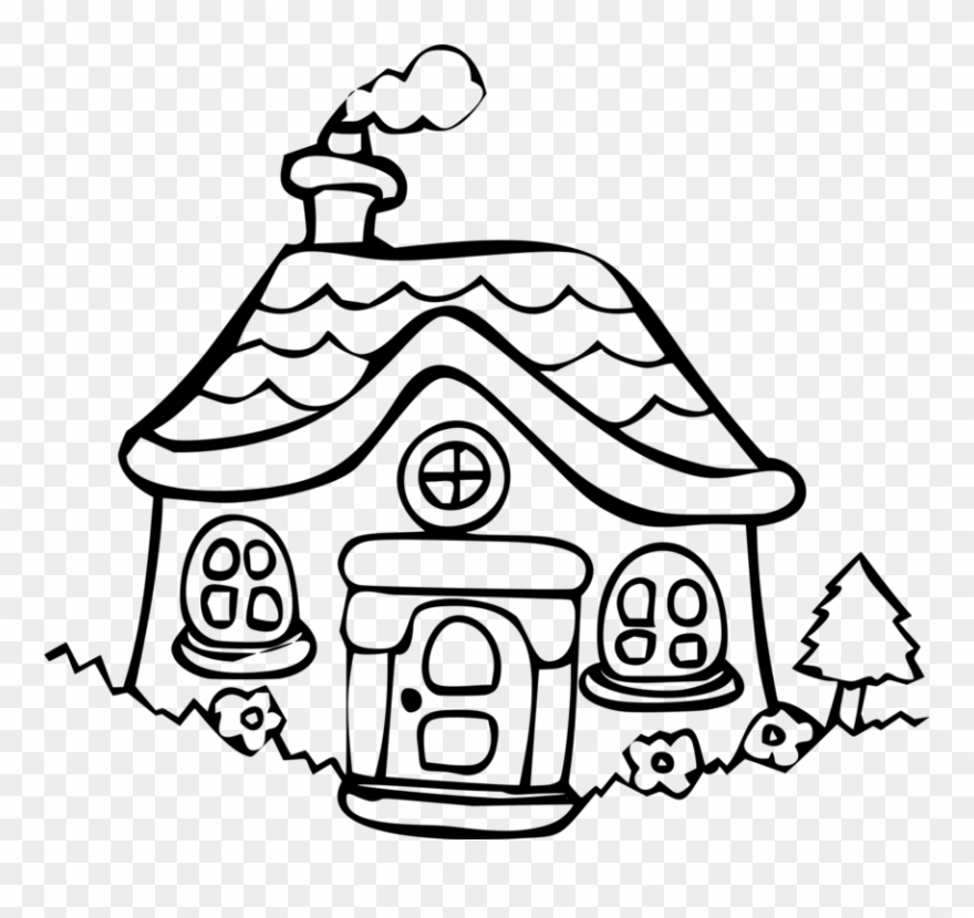 House cottage building dwelling. Clipart home holiday home