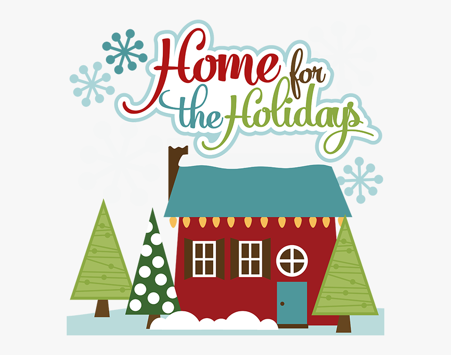 Clipart home holiday home. House for the holidays