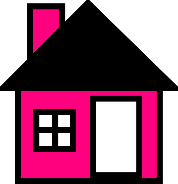 The clip art at. Pink house png