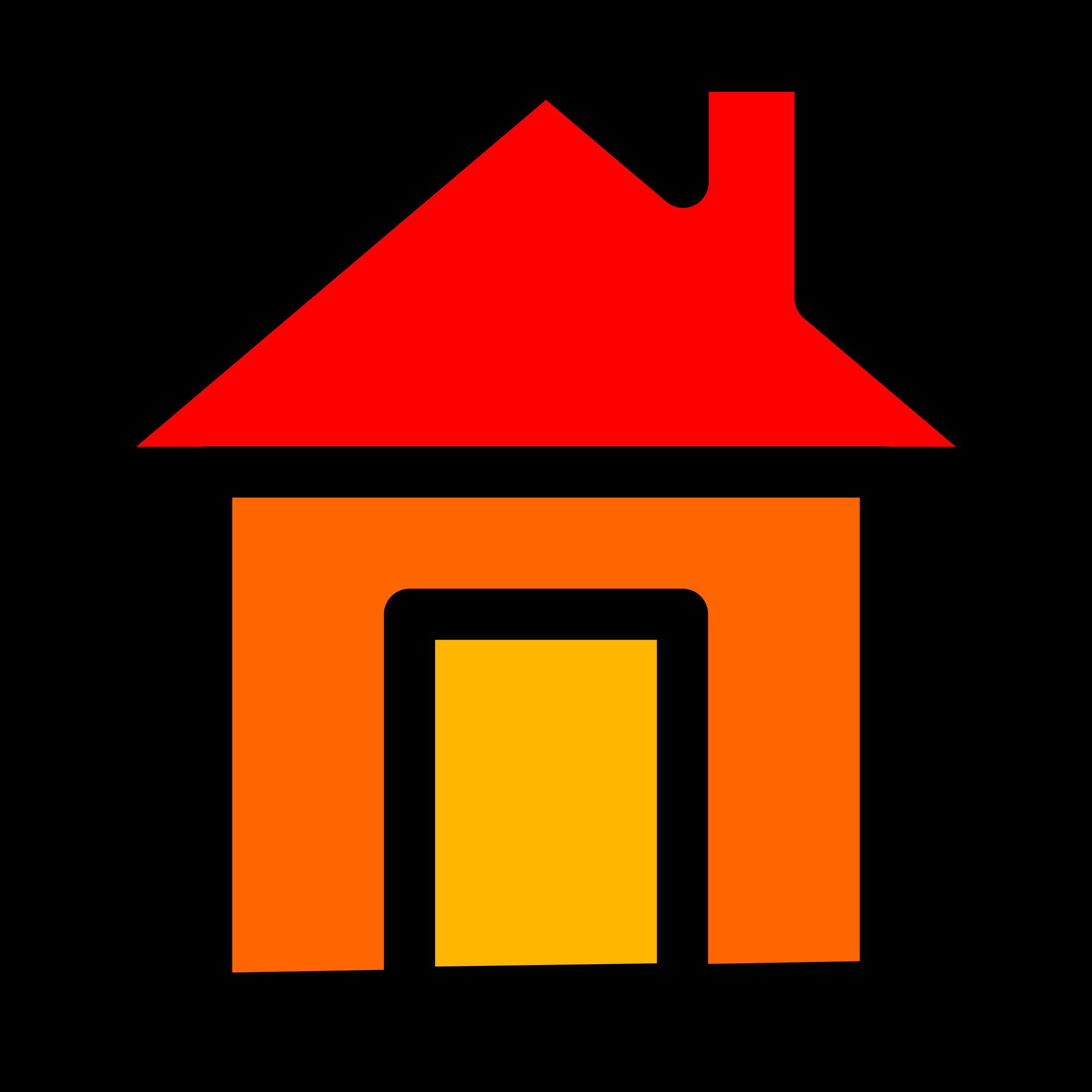 House clipart orange. Home icon big image
