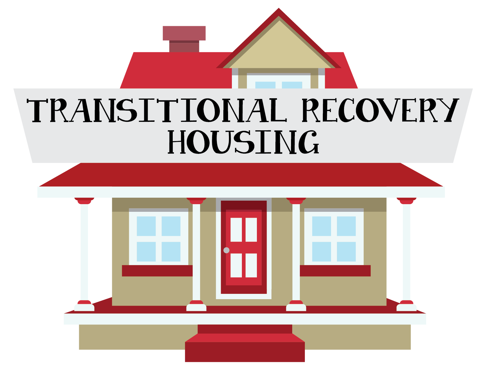 Hand clipart house. Transitional recovery housing lend