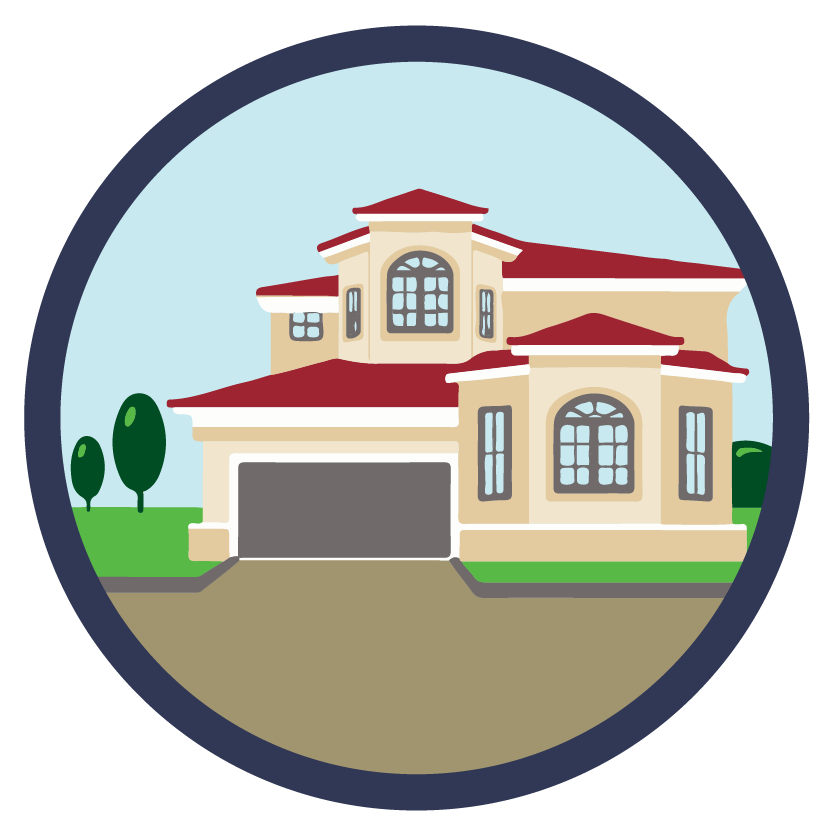 Clipart home housing development. Quality of life opportunity